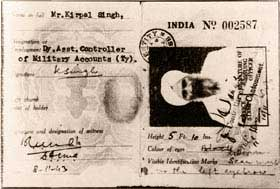 Government Idendity Card of Sant Kirpal Singh