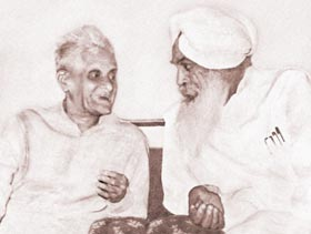 Sant Kirpal Singh with the Governor Ali Akbar Khan