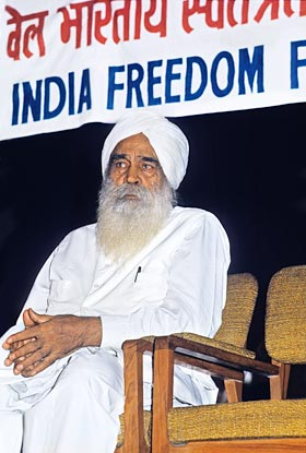 Sant Kirpal Singh during the convention, August, 1973