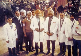 Medical staff at the conference - fourth from right Dr Harbhajan Singh